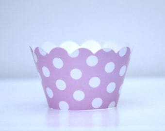 Baby Pink Polka Dot Cupcake Wrappers Pack of 12 Party Decor