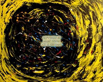 """Painting """"Child Swirl"""" 120 x 100"""
