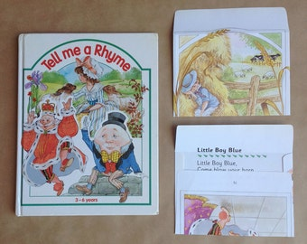 10 Handmade children's nursery rhyme book envelopes