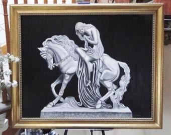 """Exquisite Original Oil Painting of """"Lady Godiva""""- RARE COMMODITY!"""
