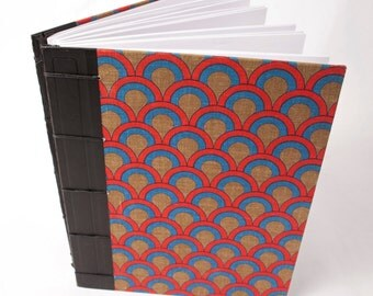 Hand-bound Blank Journal: Dull Rainbows or Vibrant Scales