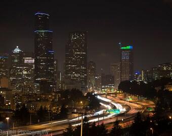 Seattle viewed from the Jose Rizal Bridge