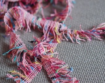 """Confetti Pink Fringe 1.0"""" (2.00cm) Imported from France"""