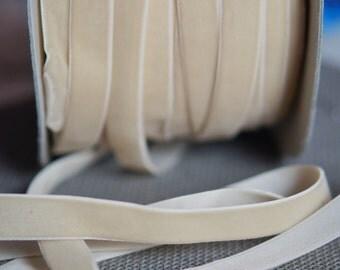 cream velvet ribbon.