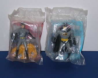 Vintage pair of McDonald's Batman the Animated Series Figures (Batman and Catwoman)
