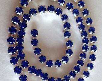 SS18 Sapphire Blue  Crystal  Rhinestone Banding Chain - High Quality Czech Stones - Radiant!