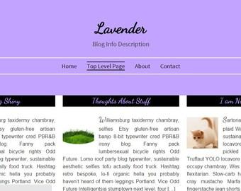 WordPress Theme - Lavender