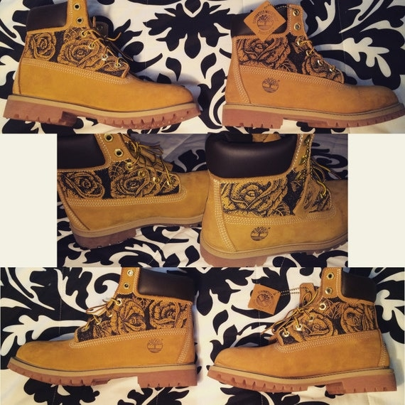 custom timberland boots by artbytiquan on etsy