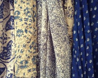 Sale ! Indian cotton Scarf  |  Indian cotton Echarpe