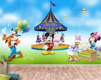 Mickey Mouse Wall Mural, Wallpaper, Wall Décor, Wall Decal, Nursery And Room