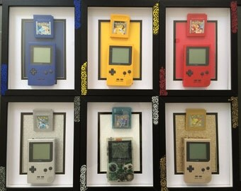 Retro Gaming CuXtom Pokemon Art frame