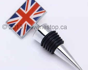 Great Britain (United Kingdom) Union Jack Flag Wine Stopper - Premium
