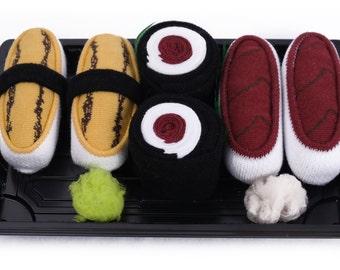 Sushi Socks Box 3 pairs Tuna Tamago Tuna Maki Cool Gift Present Gadget