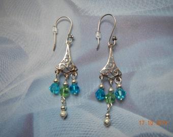 Silver-toned Chandelier Earrings