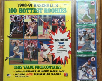 1990-91 Baseball's 100 Hottest Rookies Value Pack Score Rising Star Cards