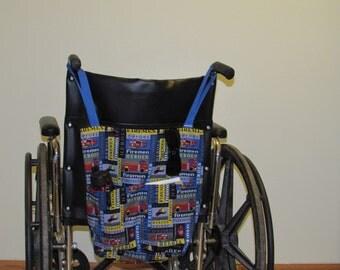 Small Wheelchair Tote  Firemen (#321 )