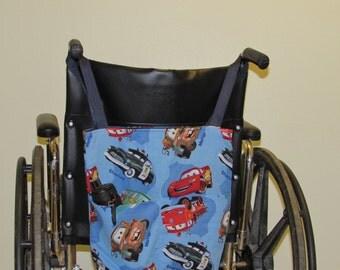 Small  Wheelchair Tote  Bag  Cars pattern  (# 317A & #317B )