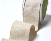 """Natural Jute and Cotton Wide Ribbon 2"""" Wide 10 Yard Roll Gift Wrapping Supply"""