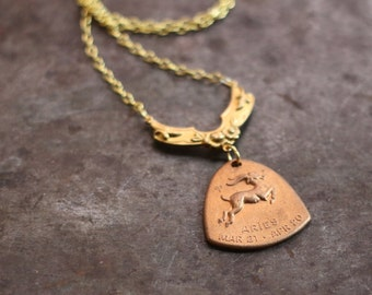The Ram Aries Horoscope Zodiac Astrology Necklace