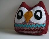 Janie the Owlet little owl pillow plushie