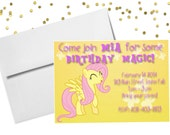 Personalized Birthday Invitation - My Little Pony Fluttershy