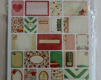 Love Project Life Theme Cards, Becky Higgins, American Crafts, Scrapbook Journal Cards