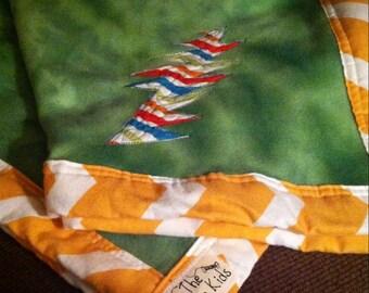 Custom Infant Toddler Deadbear Blanket fleece boutique