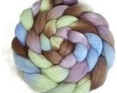 Handpainted Merino Wool Roving - 4 oz. LAVENDER HEDGEROW - Spinning Fiber