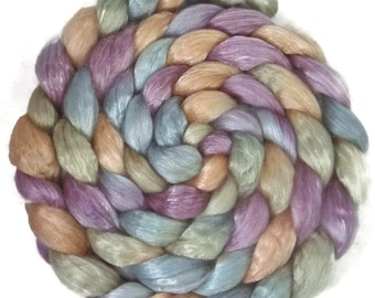 Handpainted Merino Tencel Wool Roving - 4 oz. RIVENDELL - Spinning Fiber