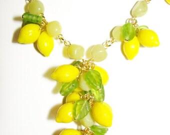 Lots of lemons!  Julia Bristow lemon fruit necklace
