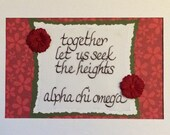 Sorority motto (Alpha Chi)-matted for 5x7 frame