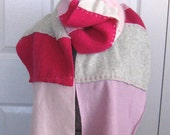 Felted Scarf  THINK PINK made from recycled Materials