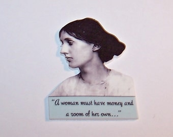 VIRGINIA WOOLF Literary Quote Pin