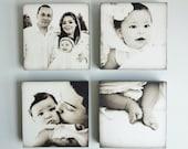 Custom Photo Art, Family Portrait, Set of 4