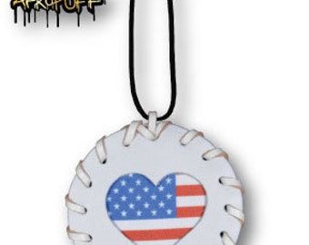 White Leather American Love Medallion