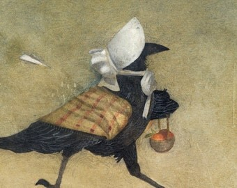 The Rogue Aeroplane -Pt 1 of 3, Mrs.Raven - First Edition Re-painted Giclee
