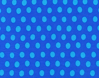 SPOT in SAPPHIRE Polka Dot , Blue  Kaffe Fassett fabric for Westminster Fabric / 1/2 yard Cotton, Quilt Craft and Apparrell fabric