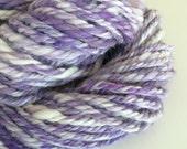 Lavender aran navajo plied handspun yarn