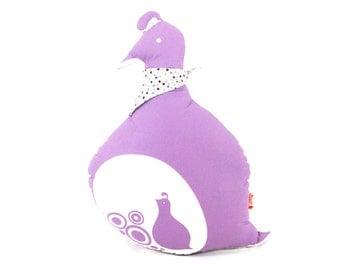 Purple Mama Quail Plush Pillow