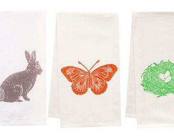 Spring Fever organic tea towel set