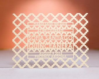 Mayan Save the Date, Laser Cut