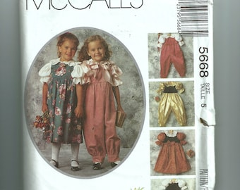 McCall's Girls' Jumpsuit, Jumper, and Blouse Pattern 5668