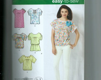 Simplicity Misses' Top In Two Lengths With Trim Variations Pattern 2596