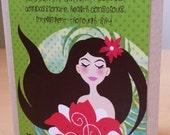 Virgo zodiac the virgin birthday card