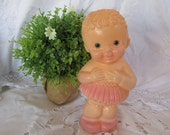 Vintage Squeeky Doll Toy- Darling