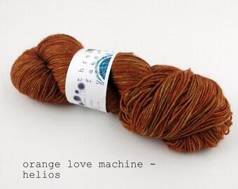orange love machine - helios fingering weight (dyed to order)