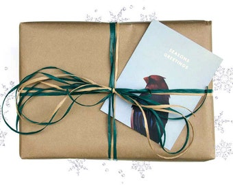 Gift Wrapping Upgrade - Christmas - Raffia - Card - Note