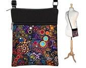 Small Cross Body Purse  Crossbody Bag Sling Shoulder Bag Fits eReaders Colorful Dots Bubbles MTO