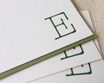 Letterpressed Monogram Card Set - Typewriter