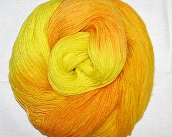 Hand dyed superwash sock yarn GOLDEN SUN